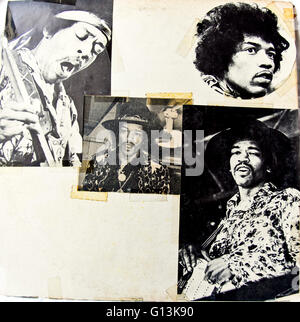 Classic album artwork (Vinyl) Jimi Hendrix Experience, Bootleg 'Live at the Forum, 1970' (Inside) - Stock Photo