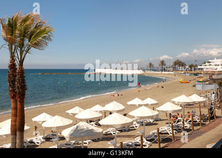 Beach Marbella Mediterranean Costa del Sol Malaga, Andalucia, Spain Stock Pho...