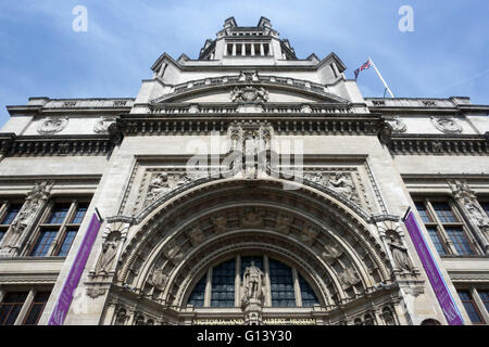 Main Entrance to the Victoria and Albert Museum London England - Stock Photo