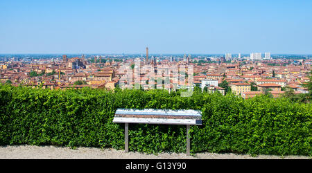 Bologna tour aerial view sightsee emilia romagna - Stock Photo