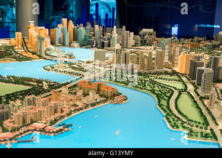 South East Asia, Singapore, city planning building, scale model of singapore