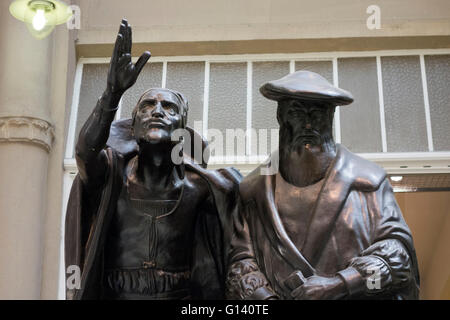 Statues of Faust and Mephisto in Auerbachs Keller, Leipzig - Stock Photo