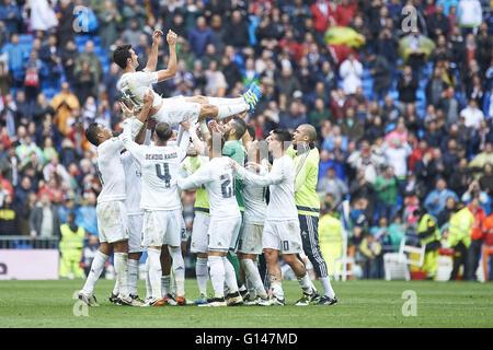 Madrid, Spain. 8th May, 2016. Alvaro Arbeloa (defender; Real Madrid) in action during La Liga match between Real - Stock Photo