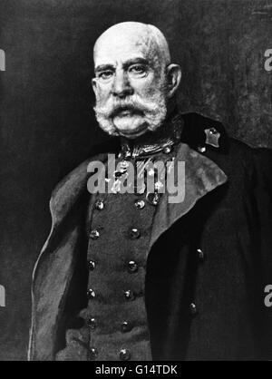 Franz Joseph I or Francis Joseph I (1830-1916) was Emperor of Austria, King of Bohemia, King of Croatia, Apostolic - Stock Photo