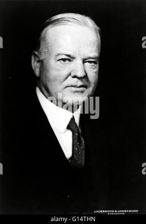 Hoover photographed in 1932. Herbert Clark Hoover (August 10, 1874 - October 20, 1964) was the 31st President of - Stock Photo