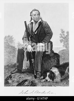 John James Audubon (1785-1851) was a French-American ornithologist, naturalist, and painter. He was notable for - Stock Photo