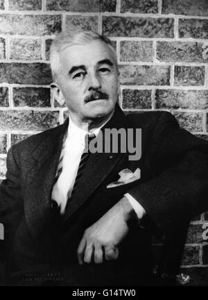 Portrait of Faulkner in 1954 by Carl van Vechten. William Cuthbert Faulkner (September 25, 1897 - July 6, 1962) - Stock Photo