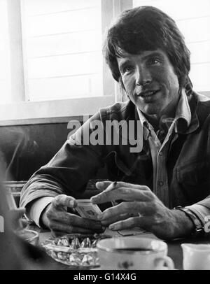 WARREN BEATTY US actor in Stockholm for the launch of the film Bonnie and Clyde - Stock Photo