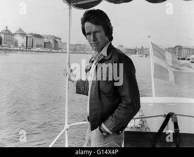 WARREN BEATTY US actor in Stockholm for launch of the film Bonnie and Clyde - Stock Photo