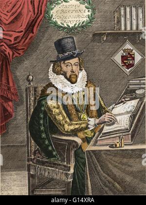 Francis Bacon (January 22, 1561 - April 9, 1626)) was an English philosopher, statesman, scientist, lawyer, jurist, - Stock Photo