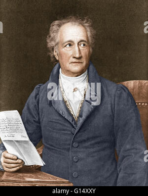Johann Wolfgang von Goethe (1749-1832) was a German writer, pictorial artist, biologist, theoretical physicist, - Stock Photo