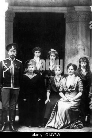 The Romanovs, the last royal family of Russia. Nicholas II (May 18, 1868 - July 17, 1918) was the last Emperor of - Stock Photo