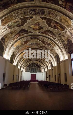 Inside the monumental complex of San Lorenzo - Province of Naples, Campania, Italy - Stock Photo