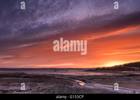 Northam Burrows First Light - Stock Photo