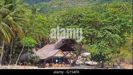 Phangan Paradise Island in the Gulf of Thailand - Stock Photo