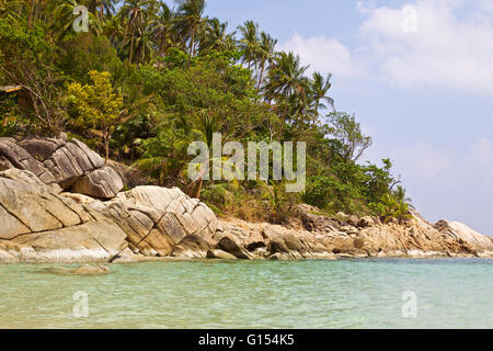 Phangan Paradise Island in the Gulf of Thailand - Stock Photo