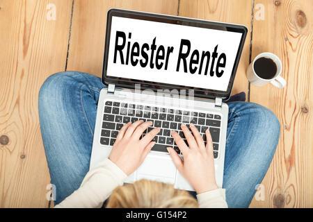 Riester Rente (german pension) - Stock Photo