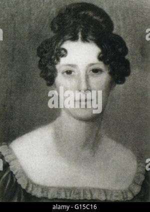 Mary Ann Mantell, who with her husband Gideon Algernon Mantell (1790-1852), discovered specimens of Iguanodon teeth - Stock Photo