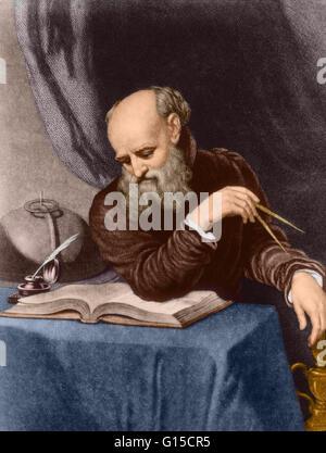 Galileo Galilei (February 15, 1564 - January 8, 1642) was an Italian physicist, mathematician, astronomer, and philosopher - Stock Photo