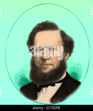 Brigham Young (June 1, 1801 - August 29, 1877) was an American leader in the Latter Day Saint movement and a settler - Stock Photo