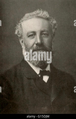 Jules Gabriel Verne (1828-1905) was a French author who pioneered the science fiction genre. He is best known for - Stock Photo