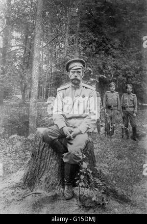 Undated photograph of Nicholas Romanov in military dress. Nicholas II (May 18, 1868 - July 17, 1918) was the last - Stock Photo