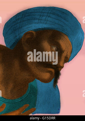 Abu l-Walid Muhammad bin 'Ahmad bin Rusd or by his Latinized name Averroës (April 14, 1126 - December 10, 1198) - Stock Photo