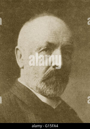 Georg Ferdinand Ludwig Philipp Cantor (1845-1918) was a German mathematician, best known as the inventor of set - Stock Photo