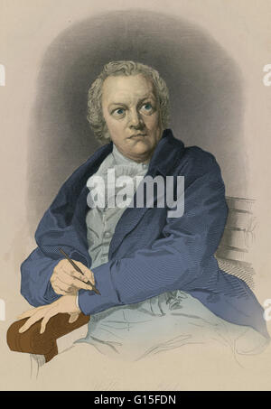 William Blake (1757-1827) was an English poet, painter, and printmaker. Blake is considered a seminal figure in - Stock Photo