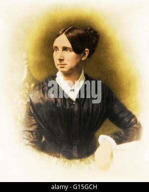 Dorothea Lynde Dix (April 4, 1802 - July 17, 1887) was an American activist on behalf of the indigent insane who, - Stock Photo