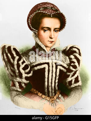Mary I (1516-1558) was the Queen of England and Ireland from July 1553 until her death. She was the only surviving - Stock Photo
