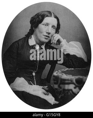 Harriet Beecher Stowe (June 14, 1811 - July 1, 1896) was an American abolitionist and author. Her novel Uncle Tom's - Stock Photo