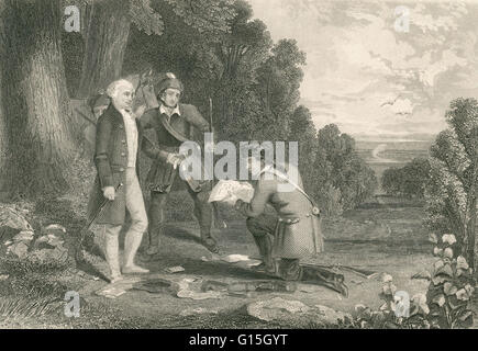 John André (May 2, 1750 - October 2, 1780) was a British Army officer hanged as a spy by the Continental Army during - Stock Photo