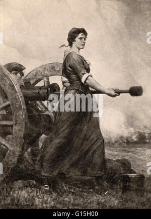 Molly Pitcher at the Battle of Monmouth. The Battle of Monmouth was an American Revolutionary War battle fought - Stock Photo