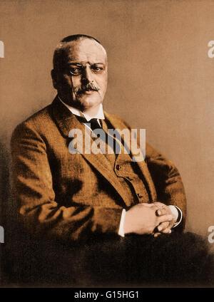 Aloysius 'Alois' Alzheimer (1864-1915) was a German psychiatrist and neuropathologist and a colleague of Emil Kraepelin. - Stock Photo