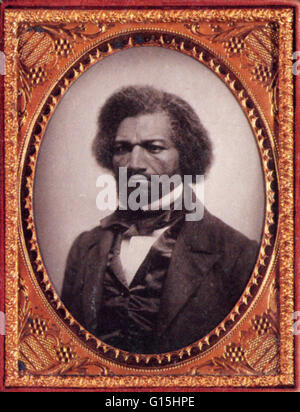Frederick Douglass (February 1818 - February 20, 1895) was an American social reformer, orator, writer and statesman. - Stock Photo