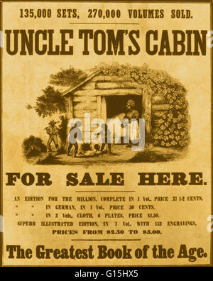 Color Enhanced Poster Promoting The Book U0027Uncle Tomu0027s Cabinu0027 By  Abolitionist Harriet Beecher Stowe