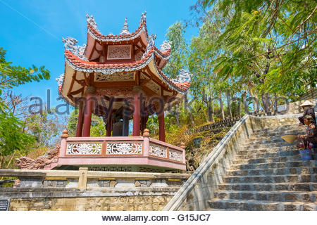 Small pagoda at Chua Long Son Buddhist temple, Nha Trang, Khanh Hoa Province, Vietnam, Indochina, Southeast Asia, - Stock Photo