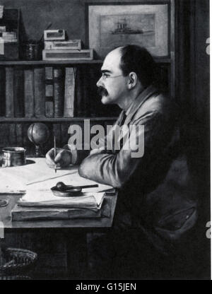 Joseph Rudyard Kipling (December 30 1865 - January 18, 1936) was an English short-story writer, poet, and novelist. - Stock Photo