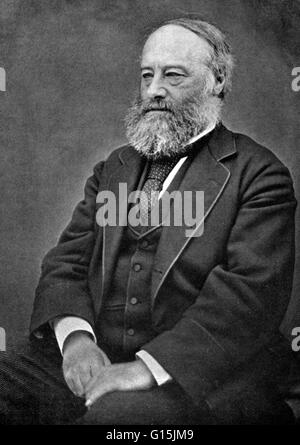 James Prescott Joule (1818-1889) was an English physicist and brewer. He studied the nature of heat, and discovered - Stock Photo