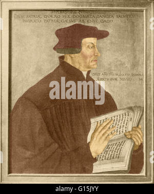 Huldrych Zwingli (January 1, 1484 - October 11, 1531) was a leader of the Reformation in Switzerland. Born during - Stock Photo