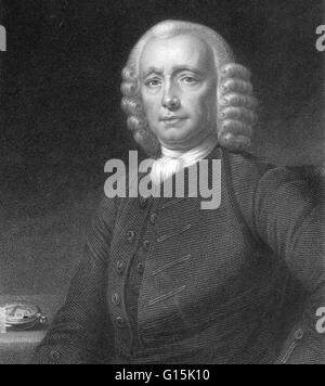 John Harrison (1693-1776) was a self-educated English clockmaker. He invented the marine chronometer. A marine chronometer - Stock Photo