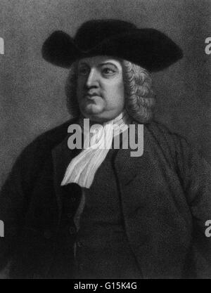 Portrait of William Penn (1644-1718), English real estate entrepreneur, philosopher, and founder of Pennsylvania. - Stock Photo