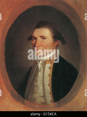Captain James Cook (1728-1779), British explorer. After joining the Royal Navy, Cook undertook his first major voyage - Stock Photo
