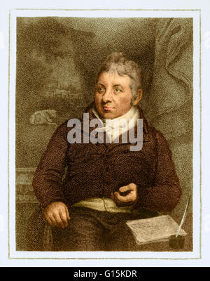 Edward Jenner (1749-1823), English physician and pioneer of vaccination. Jenner coined the word vaccination to describe - Stock Photo