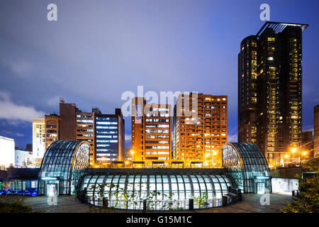 Daan Park subway station, Taipei, Taiwan, Asia - Stock Photo
