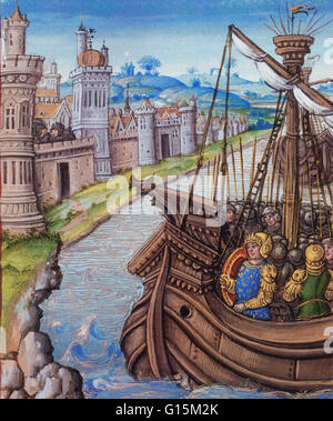The Hundred Years' War was a series of conflicts waged from 1337 to 1453 between the Kingdom of England and the - Stock Photo