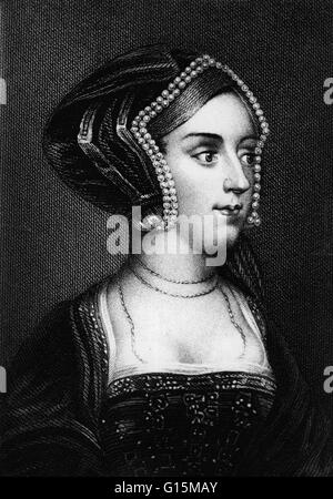 Anne Boleyn (1501 - May 19, 1536) was Queen of England from 1533 to 1536 as the second wife of Henry VIII. In 1526 - Stock Photo