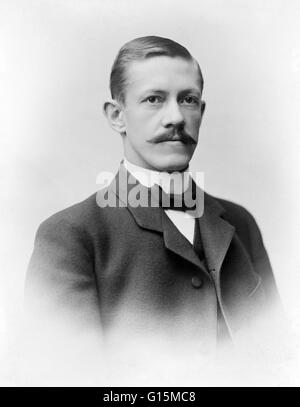 Allvar Gullstrand (1862-1930), Swedish professor and ophthalmologist. Gullstrand was professor (1894-1927) at the - Stock Photo