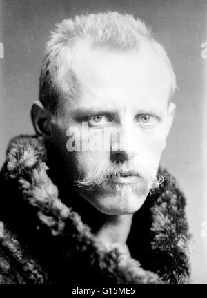 Fridtjof Wedel-Jarlsberg Nansen (October 10,1861 - May 13, 1930) was a Norwegian explorer, scientist, diplomat, - Stock Photo
